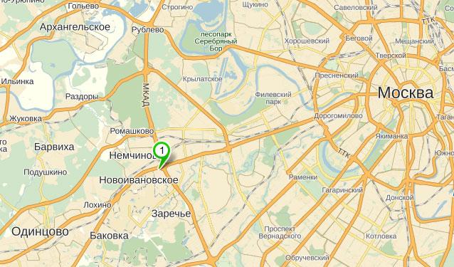 Посадка деревьев и озеленение, все виды ландшафтных работ.  Схема проезда в центральный офис компании Мос-озеленение.